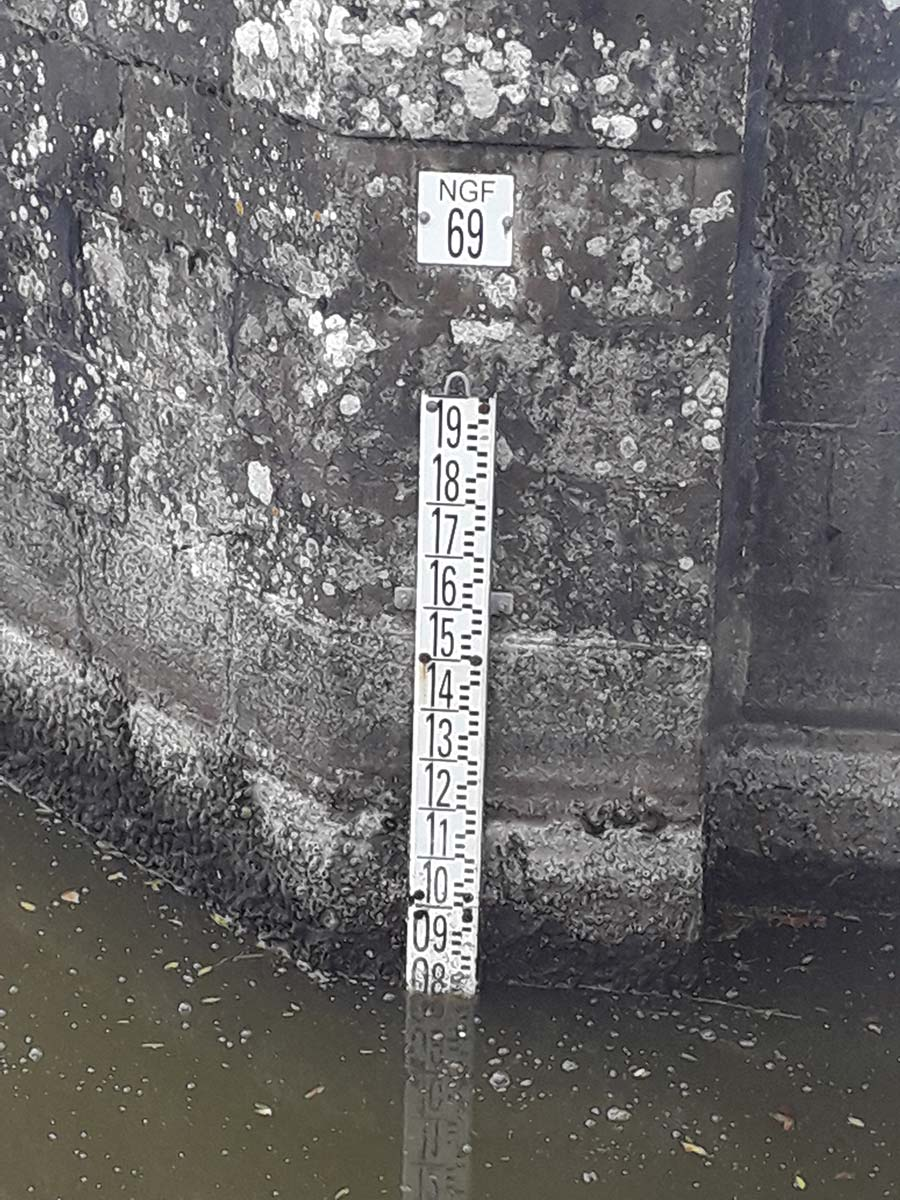 Niveaux d'eau en Brière au 21 octobre 2021